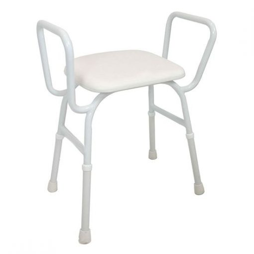 Active Medical Aqua Care Shower Stool padded with arms aluminium-shower-stool-padded-seat_550