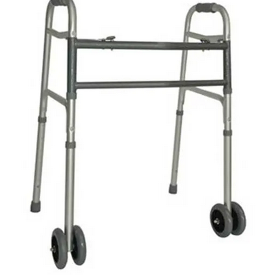 Heavy Duty folding Walking Frame with wheels
