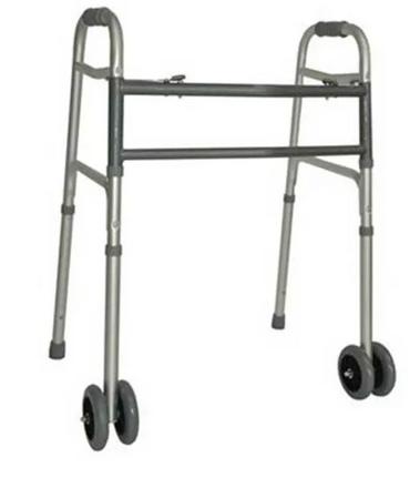 Heavy Duty folding Walking Frame with wheels